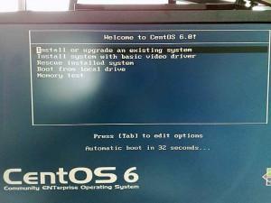 CentOS6インストーラー初期画面
