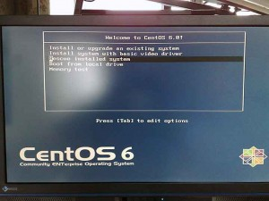 CentOS インストール設定画面