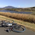 小貝川サイクリングロードから望む筑波山