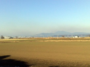 美浦から見た筑波山