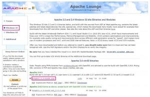 Apacheのダウンロード