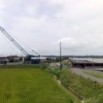 かつての鹿行大橋撤去中