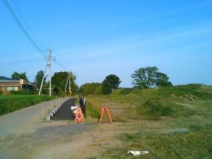 小田城跡付近の道