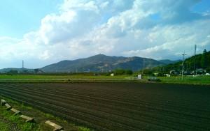 土浦から見た宝篋山