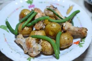ジャガイモと鶏肉とインゲン