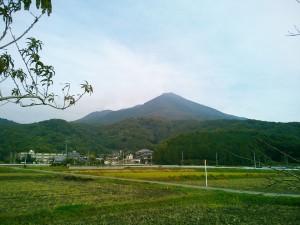 つくば休憩所より真壁寄りから見えた筑波山