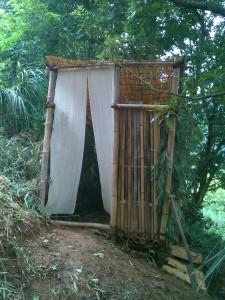 非水洗のトイレ