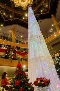 クリスマスツリーと合唱