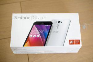Zenfone2Laserの箱