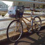 かすみがうらマラソン2016でAEDを自転車で運ぶボランティア参加