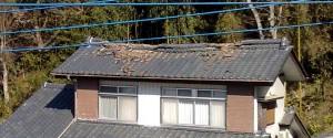 市内の屋根破損の例