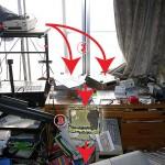 震災後の自室