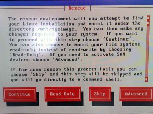 レスキュー選択画面