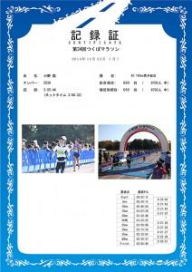 2014つくばマラソンPDF記録証