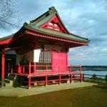 牛久沼のそばの泊崎太子堂へのサイクリング