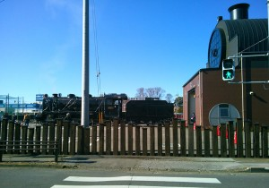 真岡駅の蒸気機関車1