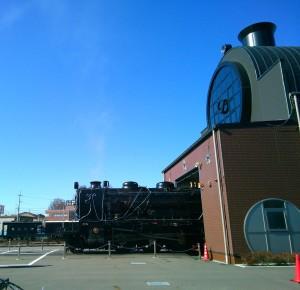 真岡駅の蒸気機関車2