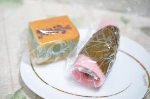 高梨製菓店の桜餅など