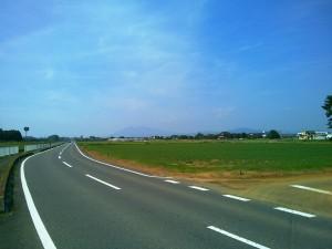 コース途中で見えた筑波山