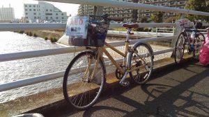 かすみがうらマラソン2016でAED等を運んだ自転車