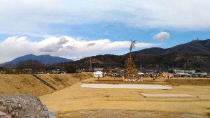 小田城跡のどんど焼き