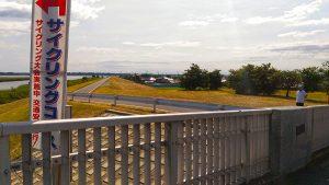 稲敷大橋とコース案内