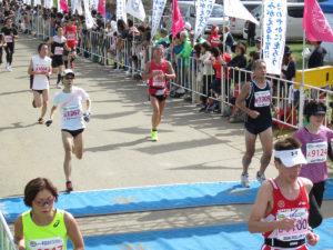 手賀沼エコマラソン2018ゴール付近集団