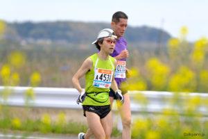 かすみがうらマラソン2019で春の景色の中のラン