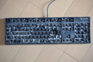 キーカバーを外したキーボード
