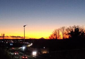 元日夕方の富士山